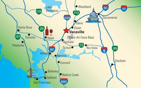 Map Of California Vacaville.About Wild Spirit Ranch
